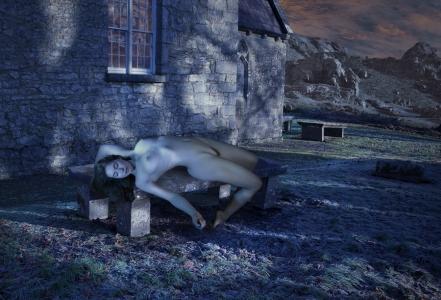Churchyard Moonrise